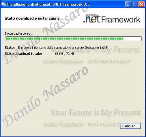Installazione .net 3.5: download e installazione