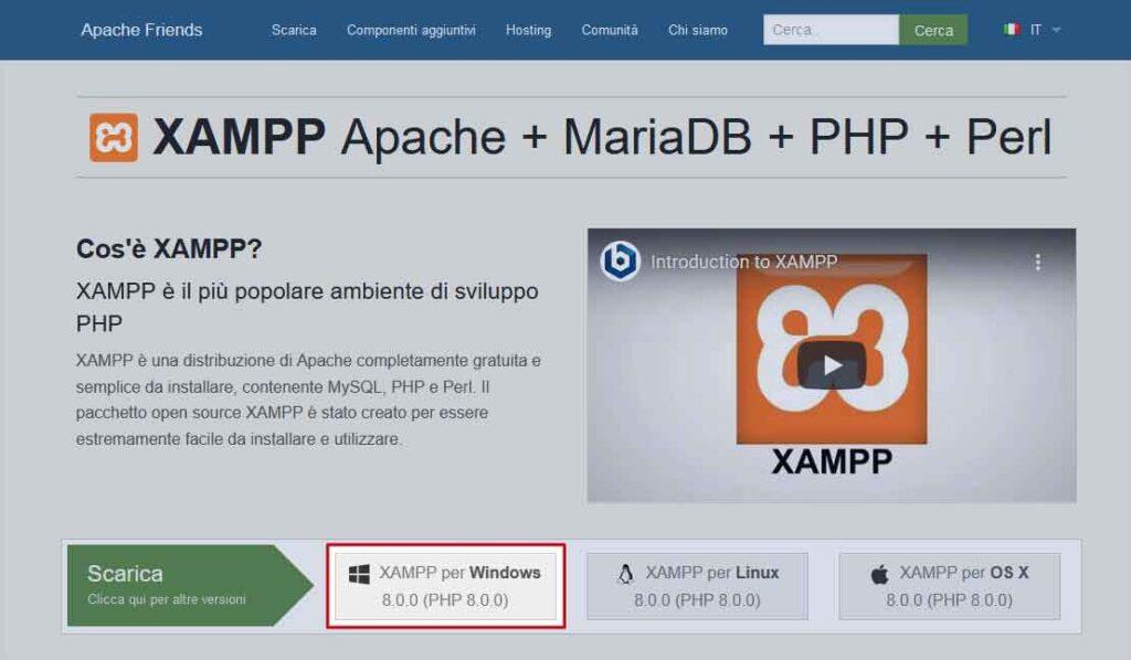 Download XAMPP per Windows