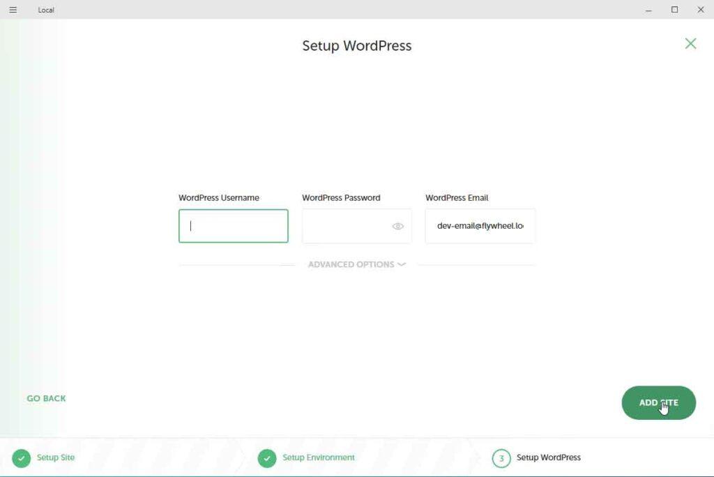Dati di accesso utente amministratore